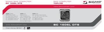 Manual BC 1606L DTS nat.fh11 - Sigma Sport