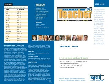 New York Teacher City Edition Media Kit - NYSUT