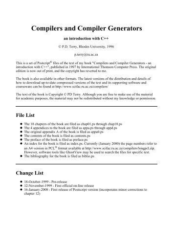 COMPILERS AND COMPILER GENERATORS PDF DOWNLOAD