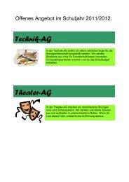 Technik-AG Theater-AG