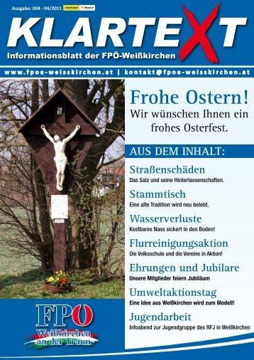(Gem. Steinhaus) Harald Piritsch Samstag, 30. April 2011 10:00
