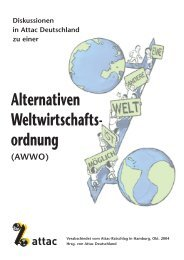 Diskussionen in Attac Deutschland zu einer ... - goeker.org