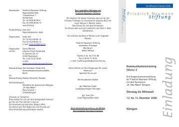 Kommunikationstraining (Modul I) Dienstag bis Mittwoch Königsee