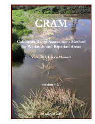 (CRAM) for Wetlands and Riparian Areas Volume 1