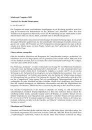 Schule und Computer 2000 Von Prof. Dr. Harald Zimmermann Der ...