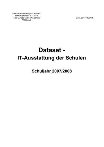 Dataset - IT-Ausstattung der Schulen Schuljahr 2007/2008