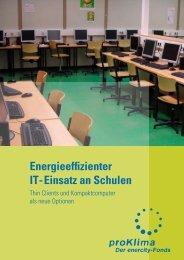 Energieeffizienter IT-Einsatz an Schulen - proKlima Hannover