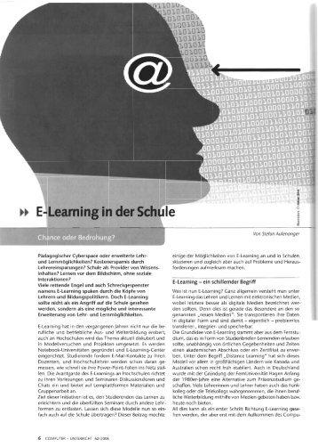 """""""E-Learning in der Schule"""". - Stefan Aufenanger"""