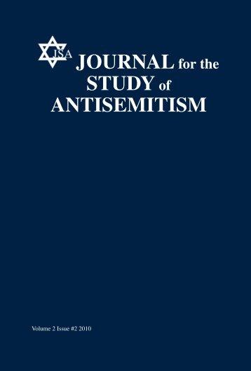 JOURNALfor the STUDYof ANTISEMITISM