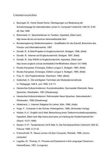 Literaturverzeichnis - Ernst-Reuter-Schule 1