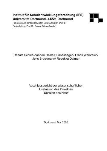 Institut für Schulentwicklungsforschung (IFS) Universität Dortmund ...