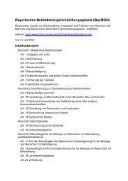 Bayern - Bayerisches Behindertengleichstellungsgesetz (BayBGG)