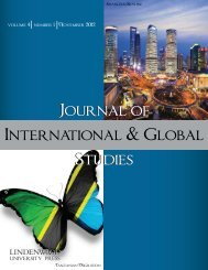 Journal of International & Global Studies - Lindenwood University