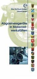 Folder Abgas - Eichdirektion Nord