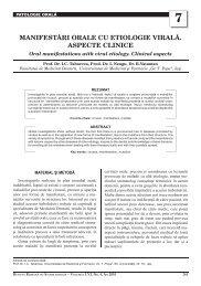 7 manifeståri orale cu etiologie viralå. aspecte clinice - medica.ro
