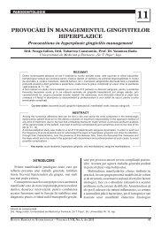 11 provocåri în managementul gingivitelor hiperplazice - medica.ro