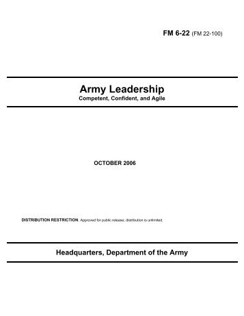 Army Leadership: Competent, Confident, and Agile - Federation of ...