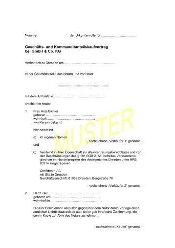 Vorlage - Brief Orginal - Confidenta AG