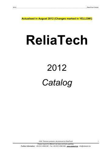 Reliatech Magazines