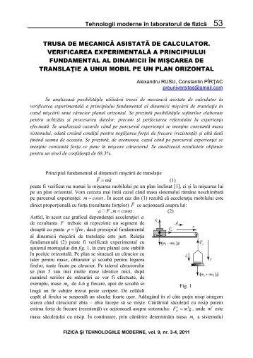 Tehnologii moderne în laboratorul de fizică 53 TRUSA DE ...