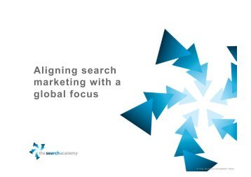Aligning search marketing with a global focus - Hasnain Zaheer