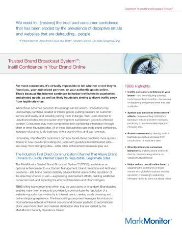 Trusted Brand Broadcast System   Protect Your Customers
