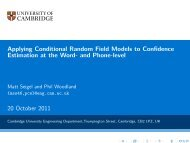 Applying Conditional Random Field Models to Confidence ...