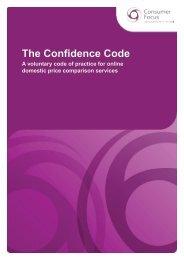 The Confidence Code - Consumer Focus
