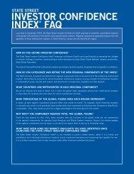 INVESTOR CONFIDENCE INDEX® FAQ - State Street