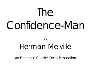 The Confidence-Man - Pennsylvania State University