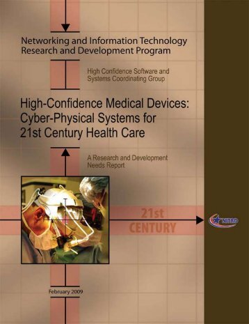 High-Confidence Medical Devices: Cyber-Physical Systems ... - nitrd