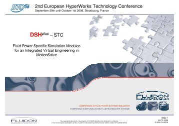 DSHplus - HyperWorks Technology Conference 2012
