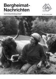 beh Nachrichten161.indd - Schweizer Bergheimat