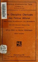 Die Disciplina clericalis, das älteste Novellenbuch des Mittelalters ...