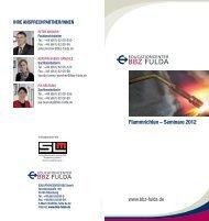 Flammrichten – Seminare 2012 - BBZ Berufsbildungszentrum Fulda
