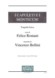 I Capuleti e i Montecchi - Fulmini e Saette