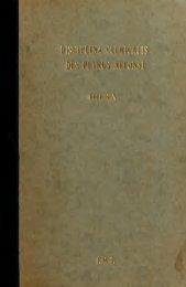 Die Disciplina clericalis des Petrus Alfonsi (das lteste novellenbuch ...
