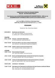 Programm Länderforum Kroatien, Albanien und ... - Raiffeisen