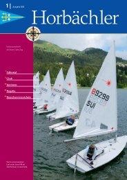 Editorial Club Junioren Regatta Branchenverzeichnis - Yacht Club Zug