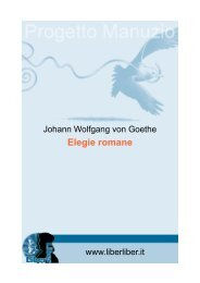 Elegie romane - Liber Liber