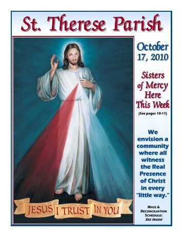 St Therese Bulletin for October 17 2010 color.pub - St. Therese Parish
