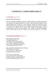 VI DOMENICA TEMPO ORDINARIO (C)