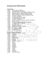 Auszug aus der Referenzliste - Salzburger Aufzugdienst