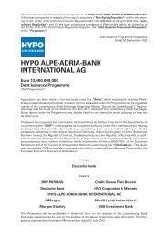 Prospectus - Hypo Alpe-Adria-Bank AG