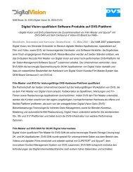 Digital Vision AB and DVS Digital Video Systems GmbH