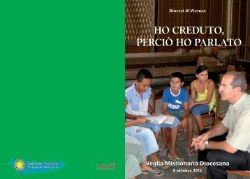 Il testo della Veglia (sabato 6 ottobre 2012 - Webdiocesi