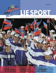 PEkING 2008 - Liechtensteinischer Olympischer Sportverband ...