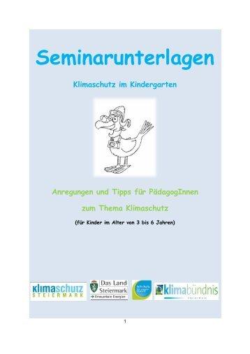 Seminarunterlagen