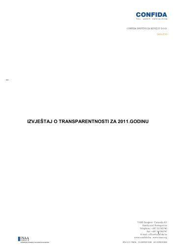 Izjava o transparentnosti