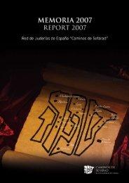 memoria 2007 - Red de Juderías de España